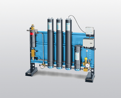 BAUER P 100 high-pressure filter system for air and gas treatment