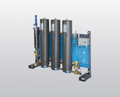 BAUER P 140 high-pressure filter system for air and gas treatment